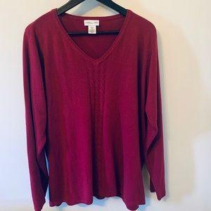 2/$18 Magenta / V-neck / Lightweight / Sweater